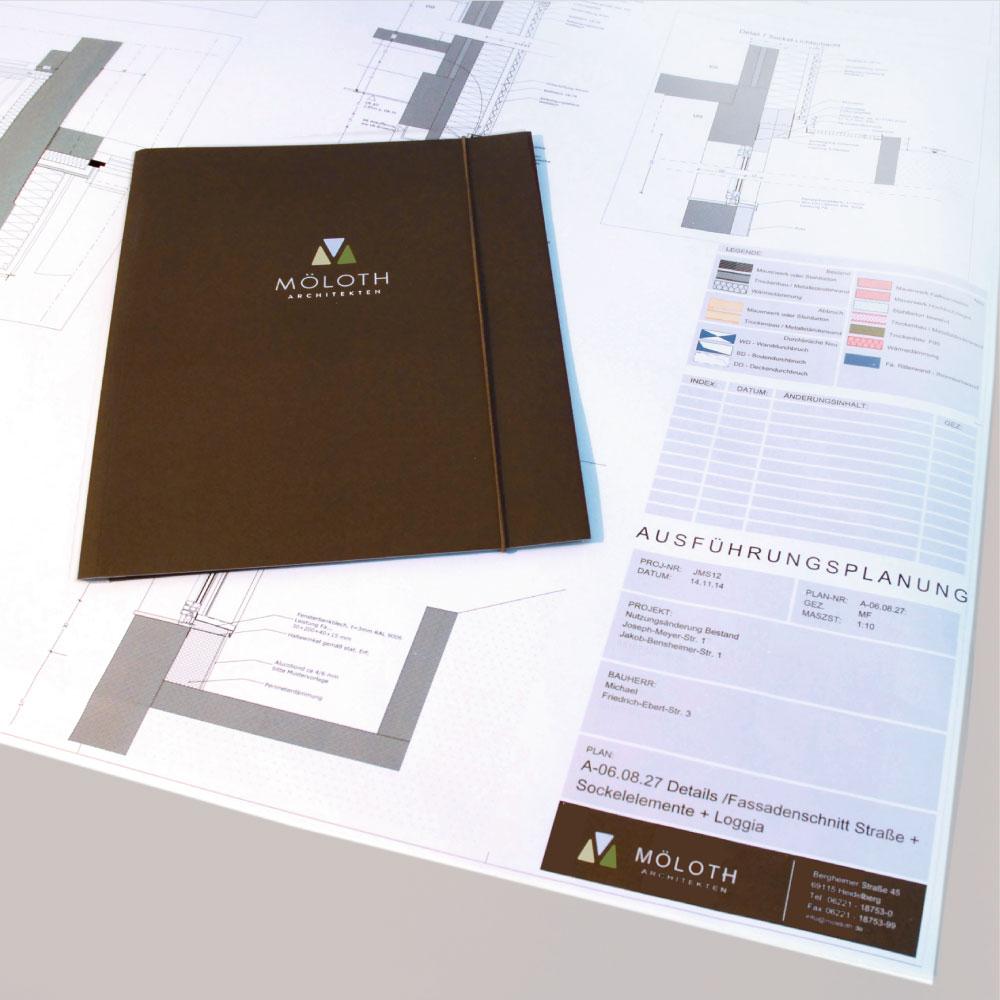 Hochwertiges Corporate Design für die Firmenkommunikation von Möloth Architekten
