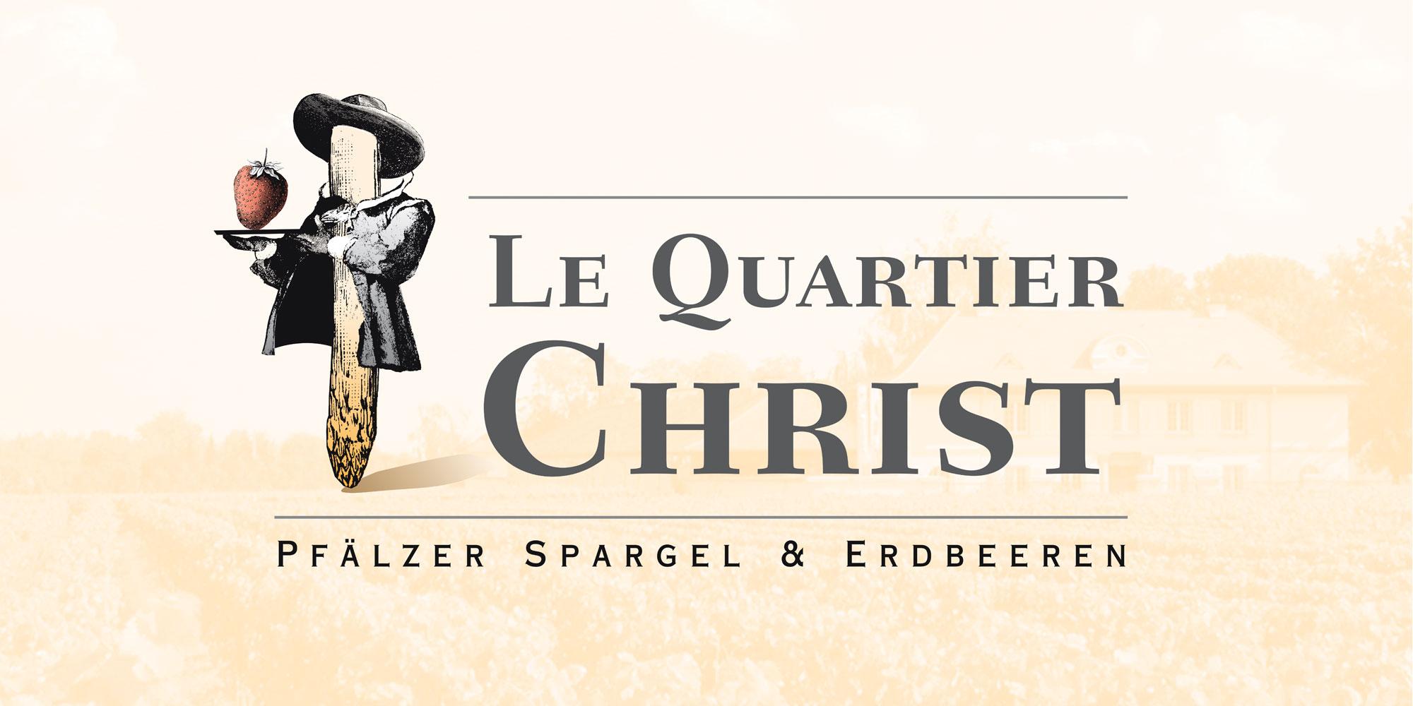 Logodesign für Le Quartiert Christ Pfälzer Spargel und Erdbeeren