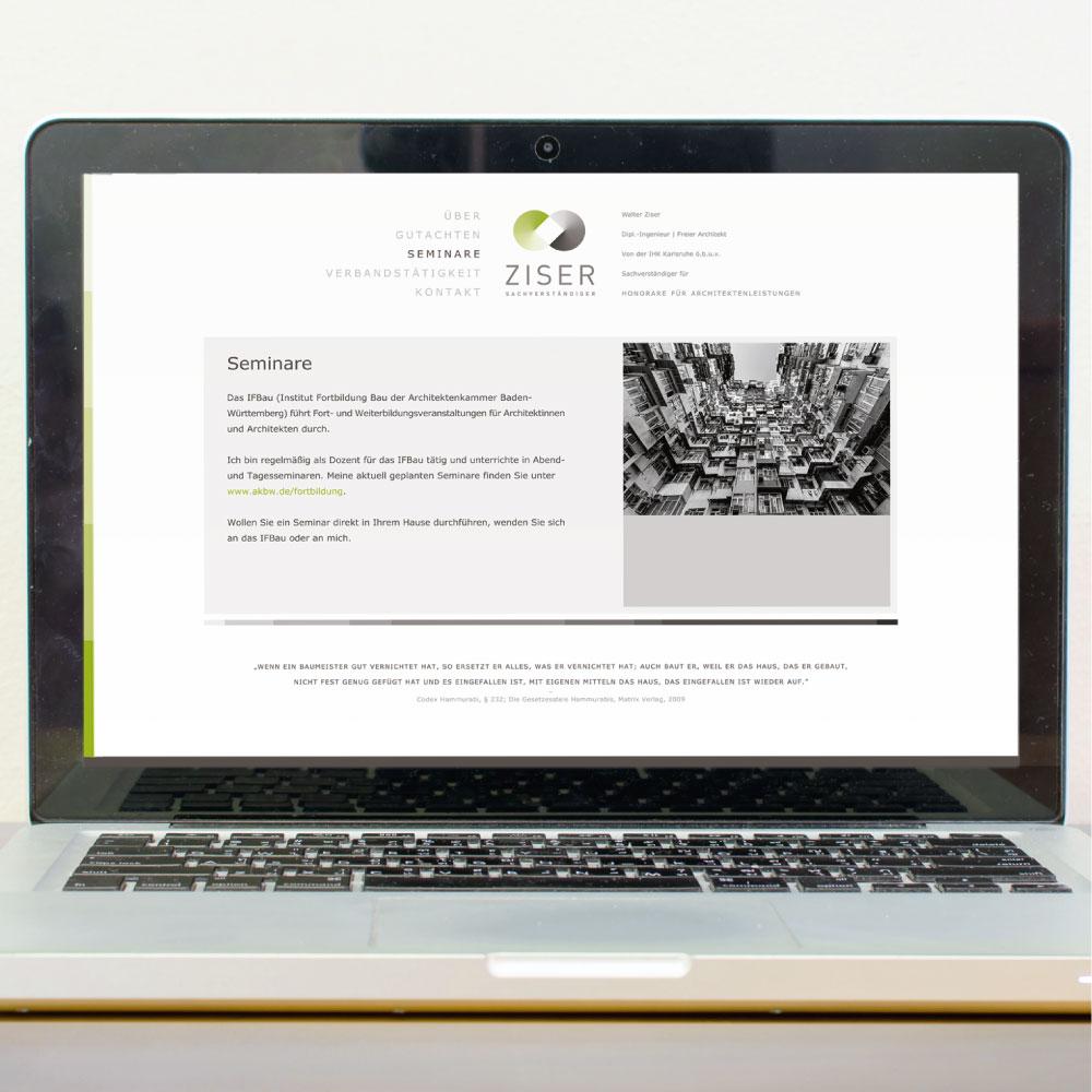 Online-Auftritt und Webdesign für den Markenauftritt im Internet von Ziser Sachverständiger um mehr Kunden zu gewinnen