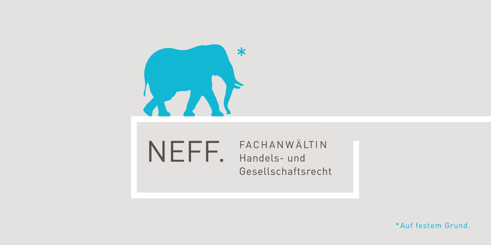 Firmenlogo NEFF Logoerstellung für Rechtsanwälte