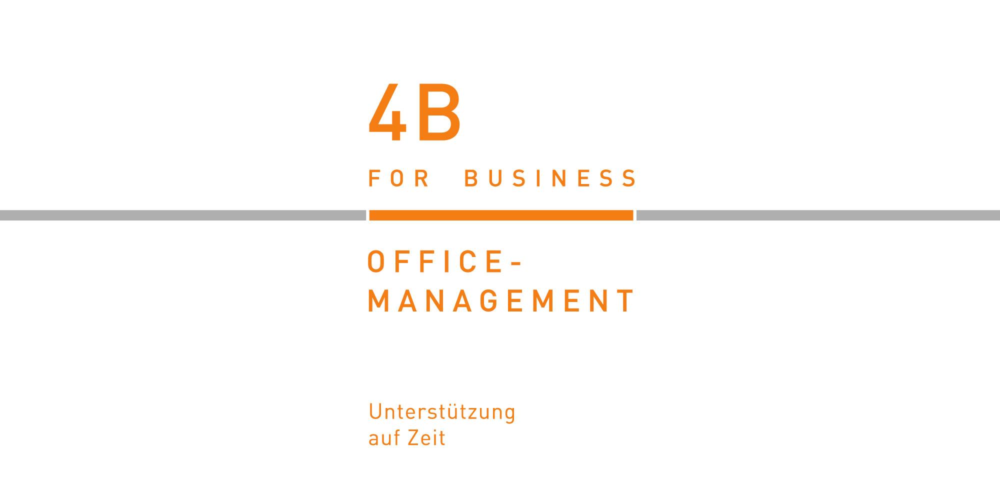 Logo erstllen 4B Logoerstellung für Office-Management