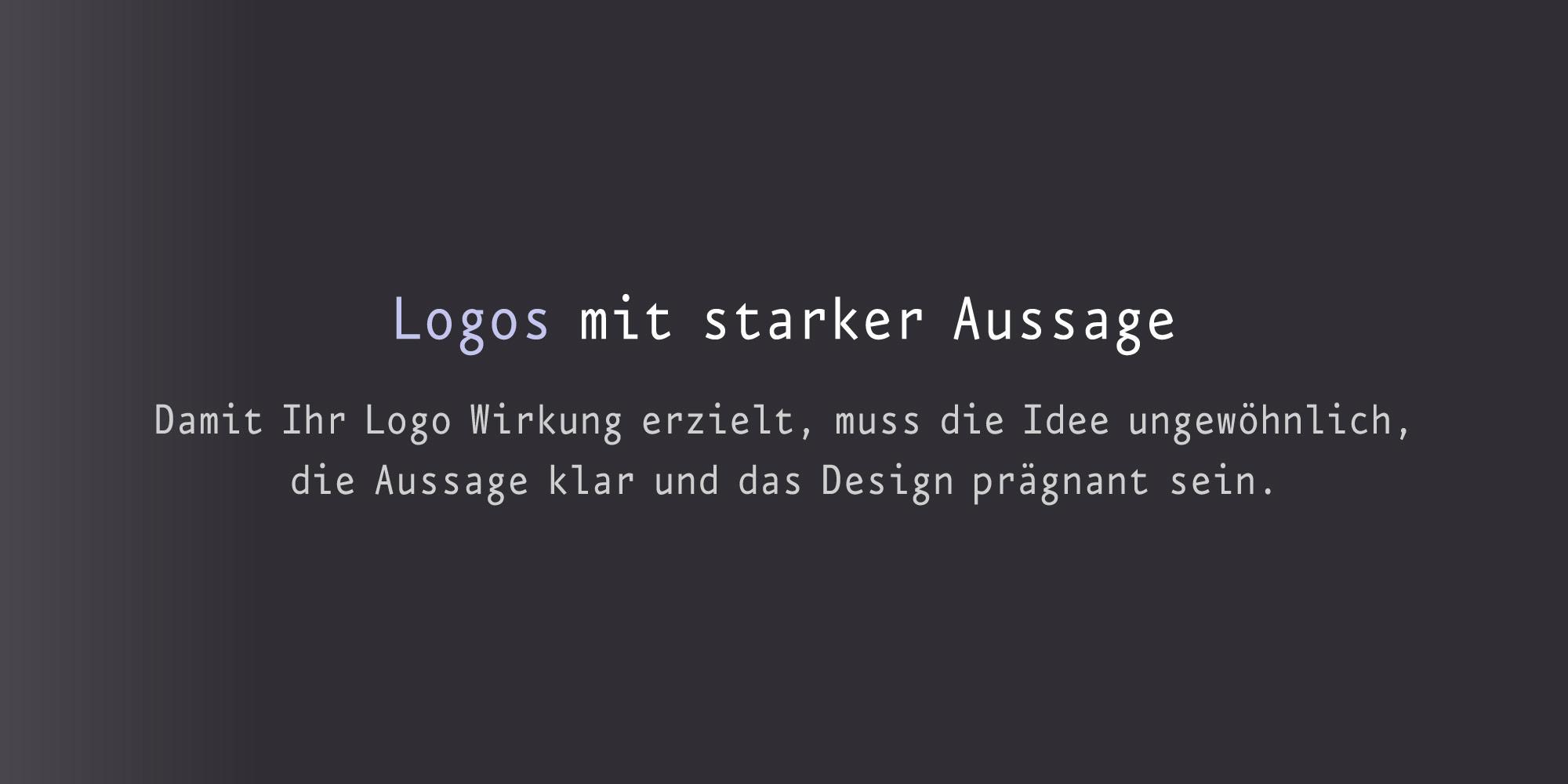 Logodesigner für Logos mit starker Aussage