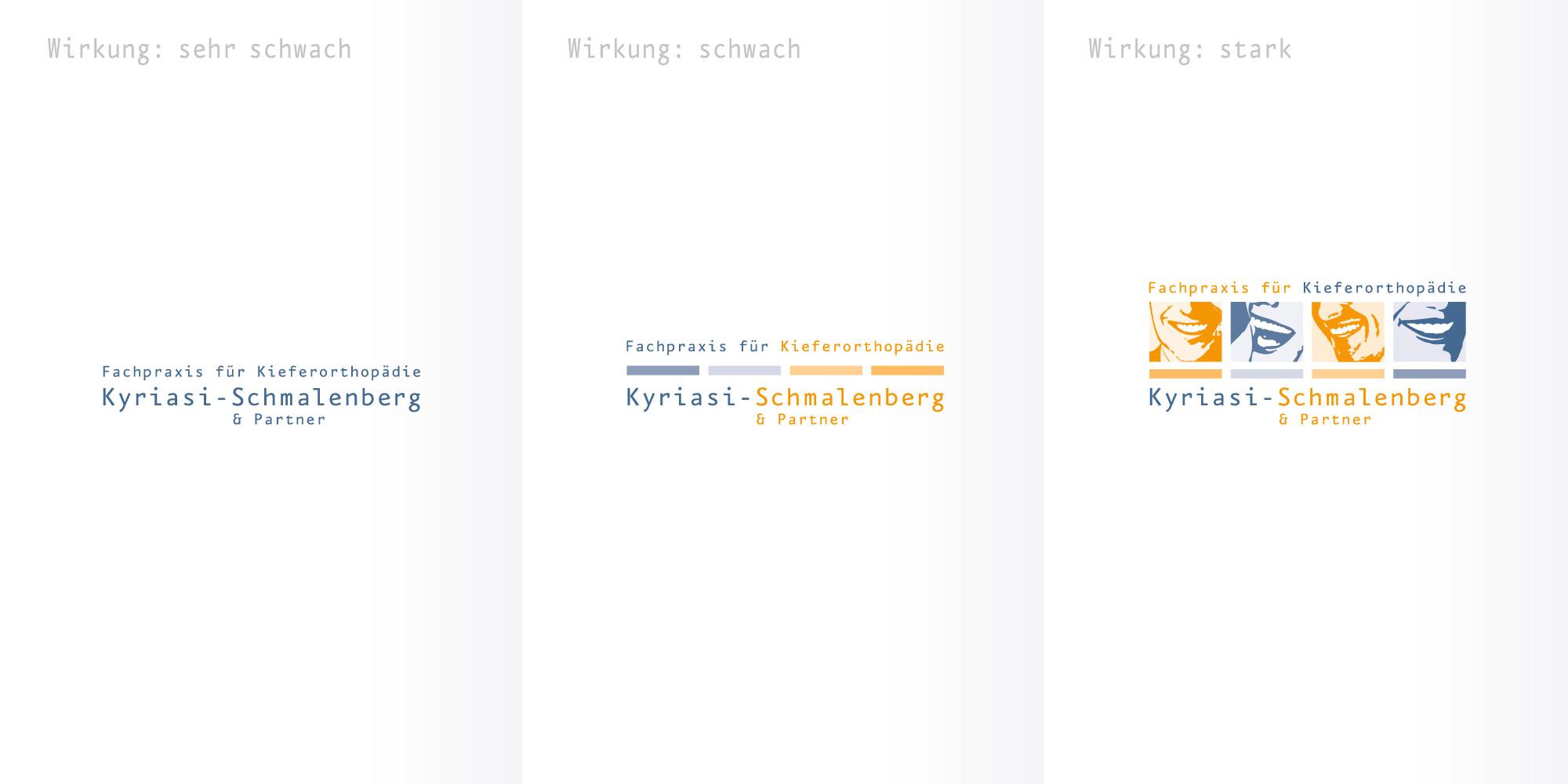Logos entwerfen Kyriasi-Schmalenberg Logoerstellung für Kieferorthopäden