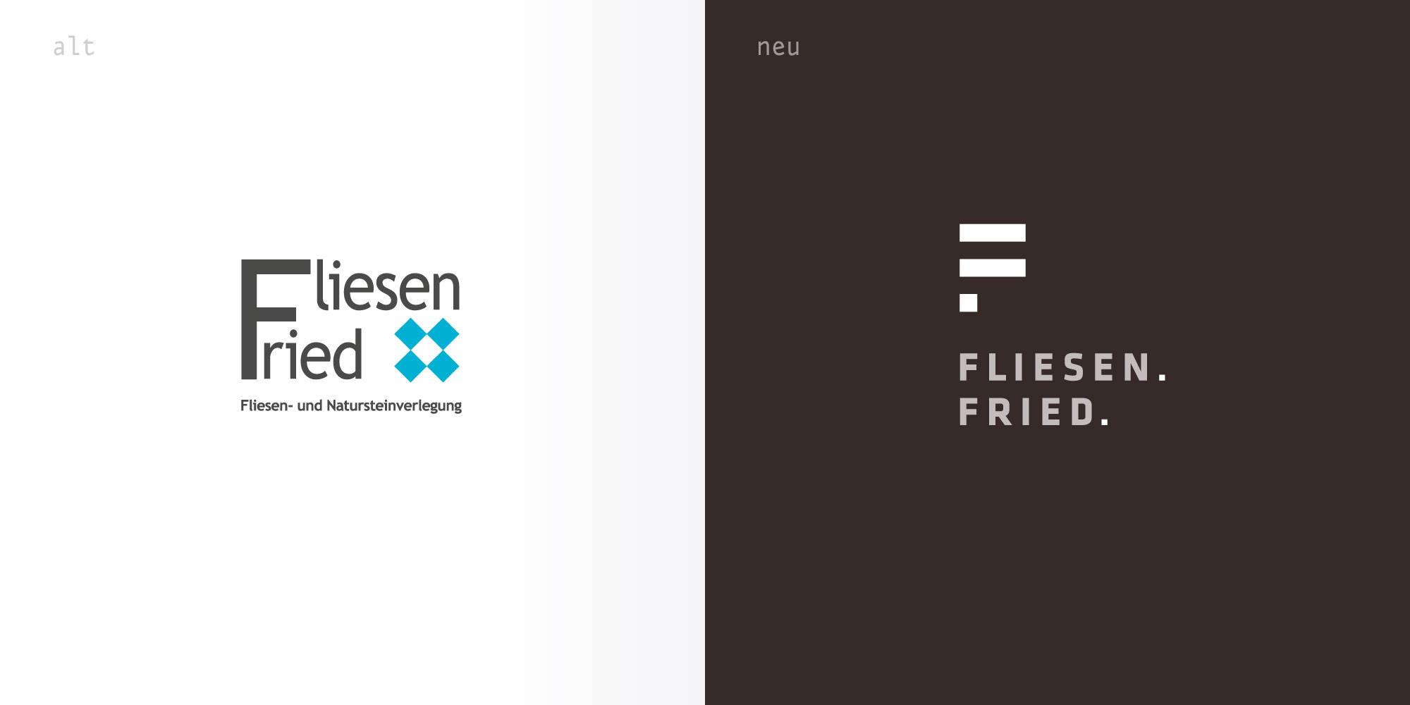 Logoüberarbeitung Logo erneuern für Fliesen Fried