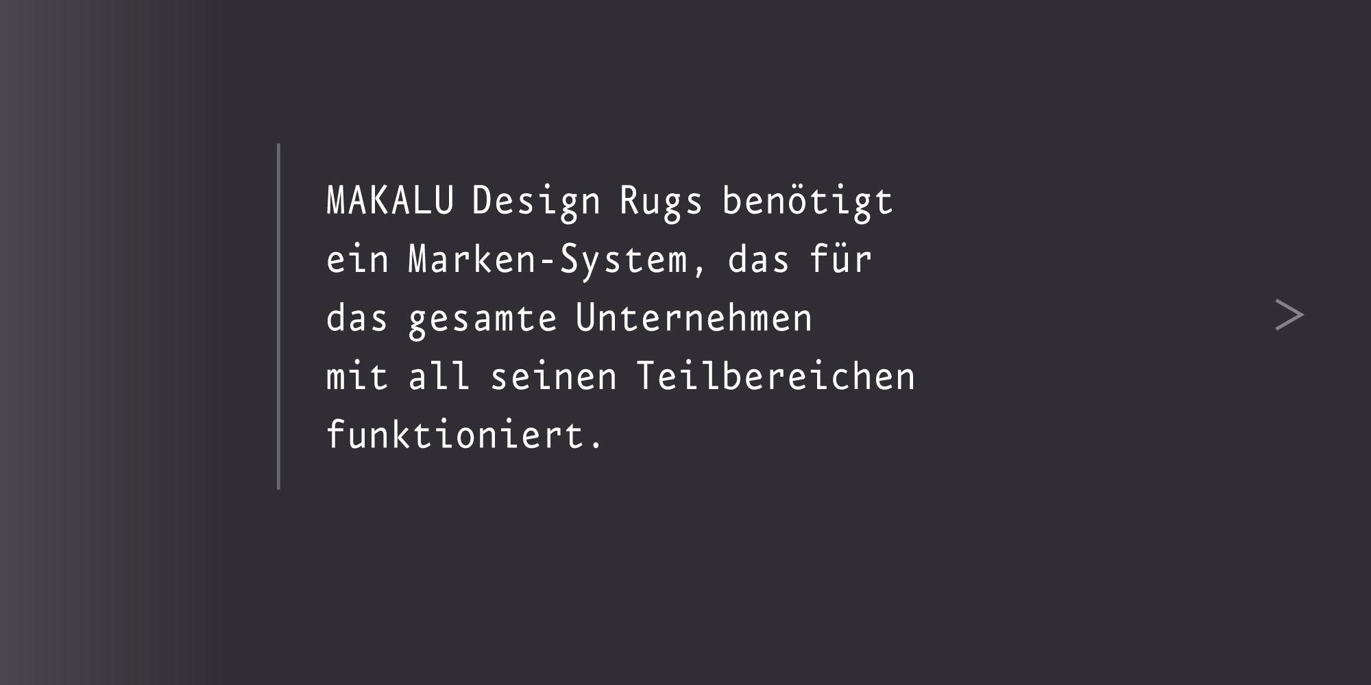 Marken-System Makalu Teppiche Dachmarke und Dachmarkenstrategie