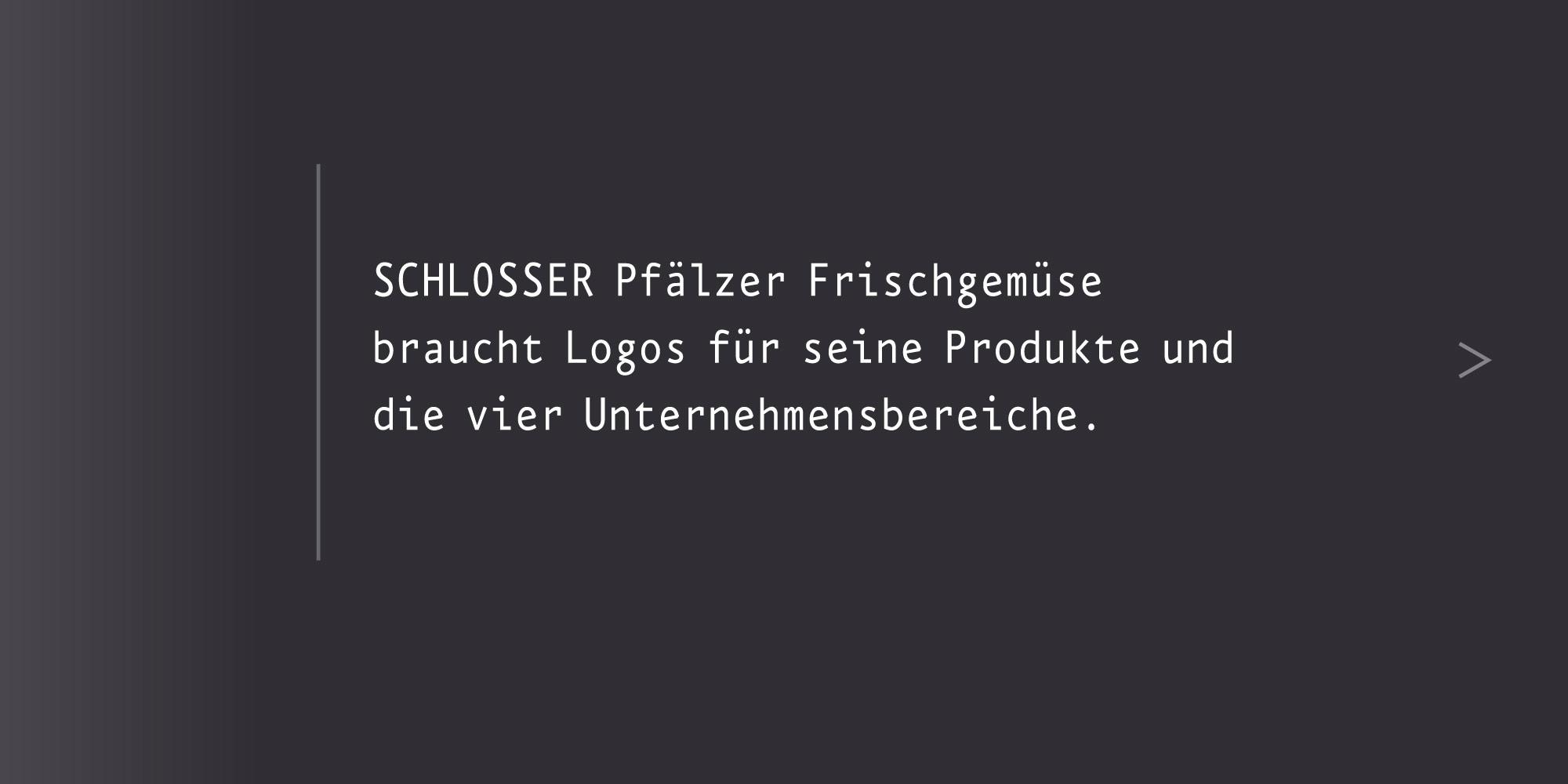 Marken-System Schlosser Gemüsebau neues Logos erstellen