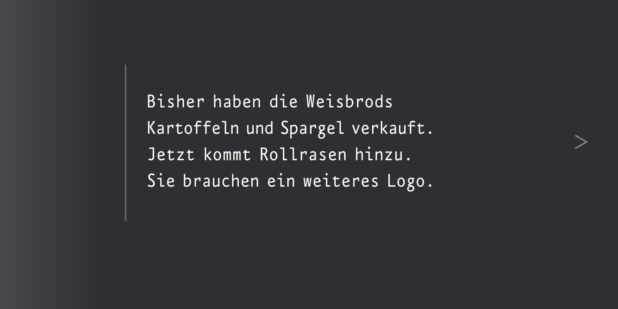 Marken-System Weisbrods neues Logo entwickeln
