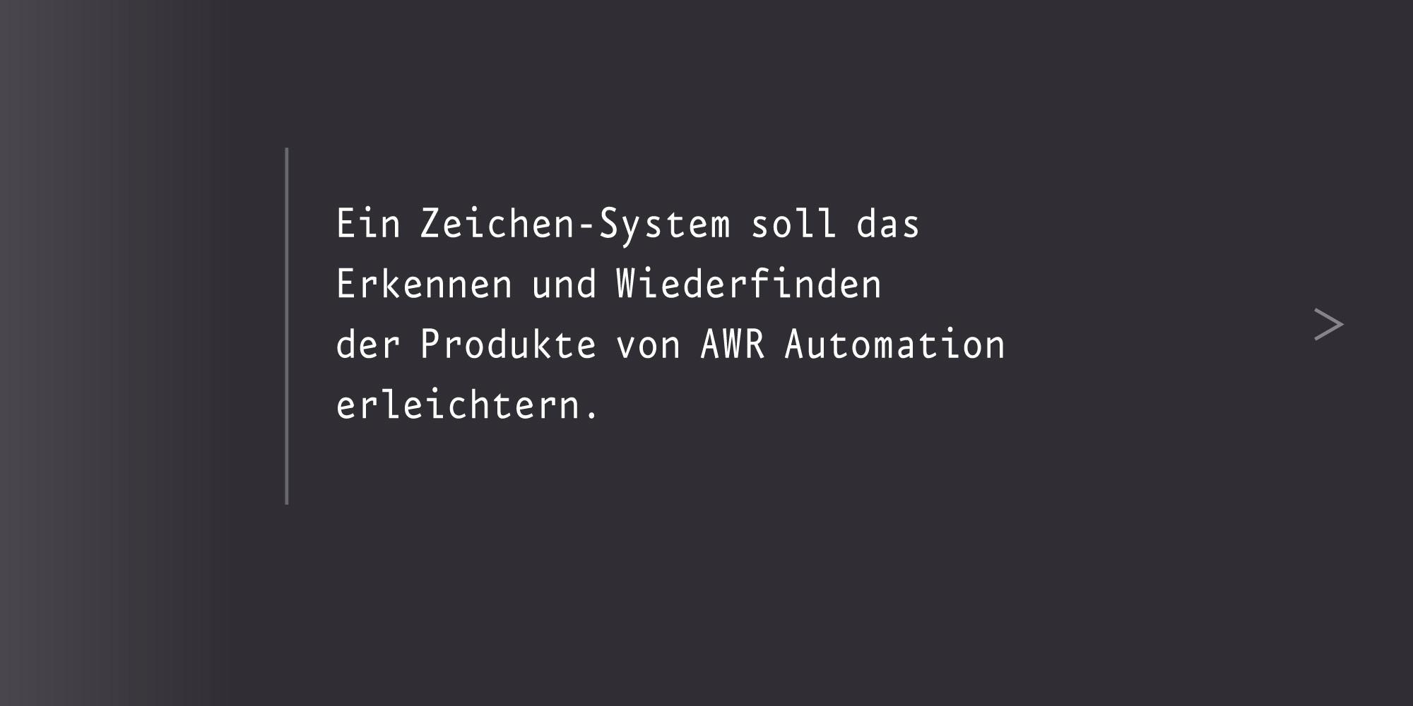 Marken-System awr Zeichessystem Piktogrammsystem erstellen